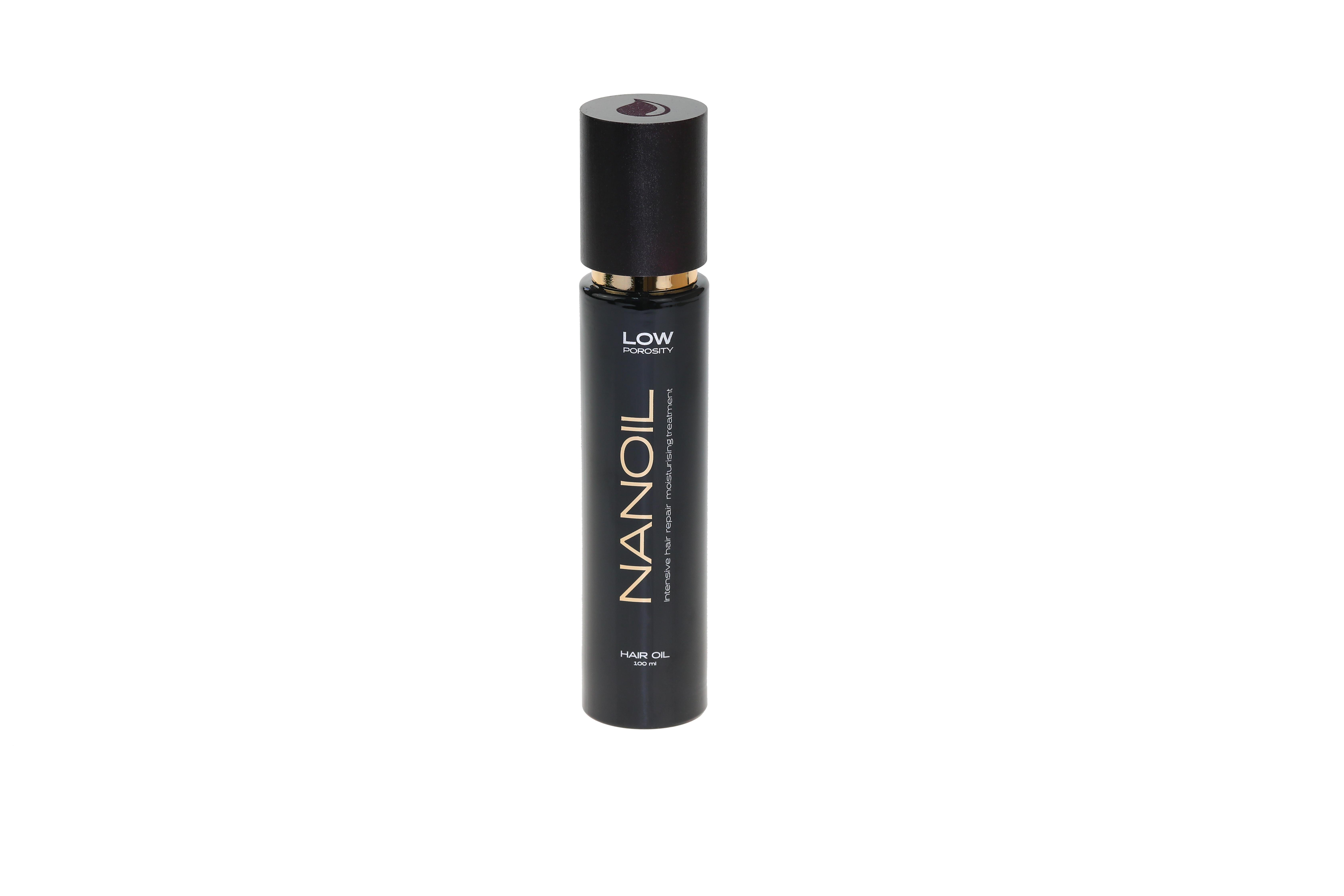Nanoil für Haare mit geringer Porosität